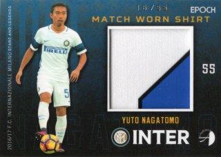 EPOCH/AUTHENTICA 2016/17 INTER Match Worn Shirts Yuto Nagatomo 【55枚限定】 神田店 kassi様