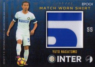 2016/17 EPOCH/AUTHENTICA INTER Match Worn Shirts Yuto Nagatomo 【27枚限定】/ MINT池袋店 クリンスマン様