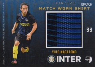2016/17 EPOCH/AUTHENTICA INTER Match Worn Shirts Yuto Nagatomo 【129枚限定】/ MINT池袋店 六角様