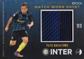 2016/17 EPOCH/AUTHENTICA INTER Match Worn Shirts Yuto Nagatomo 【131枚限定】/ MINT池袋店 六角様