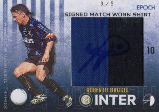 2016/17 EPOCH/AUTHENTICA INTER Signed Match Worn Shirts Roberto Baggio【5枚限定】/ MINT池袋店 テラワキ様