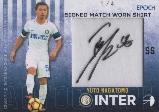 2016/17 EPOCH/AUTHENTICA INTER Signed Match Worn Shirts Yuto Nagatomo【1/4 1st NO.】/ MINT池袋店 テラワキ様