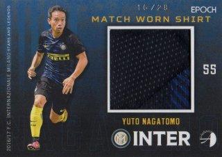 2016/17 EPOCH/AUTHENTICA INTER Match Worn Shirts Yuto Nagatomo 【28枚限定】/ MINT池袋店 テラワキ様