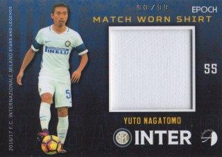 2016/17 EPOCH/AUTHENTICA INTER Match Worn Shirts Yuto Nagatomo 【99枚限定】/ MINT池袋店 テラワキ様