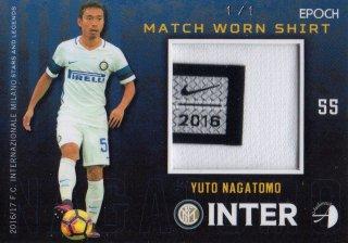 2016/17 EPOCH/AUTHENTICA INTER Match Worn Shirts Yuto Nagatomo 【1of1】/ MINT池袋店 ツッツゴー様