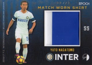 2016/17 EPOCH/AUTHENTICA INTER Match Worn Shirts Yuto Nagatomo 【27枚限定】/ MINT池袋店 ツッツゴー様