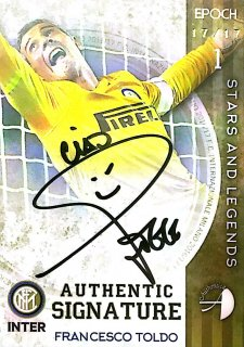 2016/17 EPOCH/AUTHENTICA INTER Authentic Signatures Francesco Toldo【17/17 Last NO.】/ MINT池袋店 はざま様