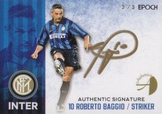 2016/17 EPOCH/AUTHENTICA INTER Authentic Signatures Roberto Baggio【3/3 Last NO.】/ MINT池袋店 ラーム様