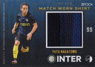 2016/17 EPOCH/AUTHENTICA INTER Match Worn Shirts Yuto Nagatomo 【28枚限定】/ MINT池袋店 スギ太郎様