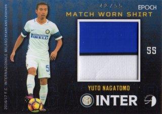 2016/17 EPOCH/AUTHENTICA INTER Match Worn Shirts Yuto Nagatomo 【55枚限定】/ MINT池袋店 スギ太郎様