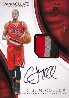 2016-17 PANINI IMMCULATE COLLECTION Patch Auto C.J. McCollum 【25枚限定】Rookie Star RS66様