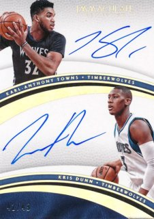 2016-17 PANINI IMMCULATE COLLECTION Auto Karl-Anthony Towns Kris Dunn 【49枚限定】Rookie Star RS12様