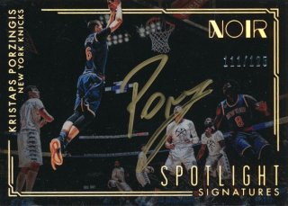2016-17 PANINI NOIR Spotlight Auto Kristaps Porzingis 【125枚限定】Rookie Star RS54様