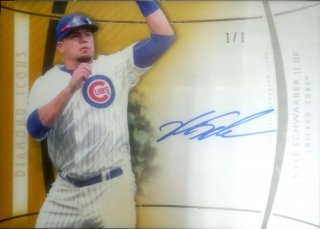 2017 Topps Diamond Icons Autographs Gold Kyle Schwarber【1of1】ミント札幌店 Billy様