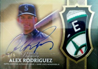 2017 Topps Dynasty Autograph Patches Parallel Alex Rodriguez【5枚限定】ミント札幌店 Billy様