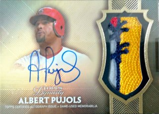 2017 Topps Dynasty Autograph Patches Parallel Albert Pujols【5枚限定】ミント札幌店 Billy様
