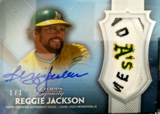 2017 Topps Dynasty Autograph Patches Parallel Reggie Jackson【1of1】ミント札幌店 Billy様