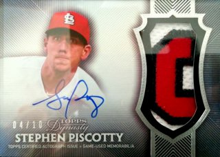 2017 Topps Dynasty Autograph Patches Stephen Piscotty【10枚限定】ミント札幌店 Billy様