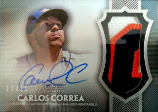 2017 Topps Dynasty Autograph Patches Carlos Correa【10枚限定】ミント札幌店 Billy様