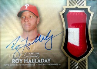 2017 Topps Dynasty Autograph Patches Parallel Roy Halladay【5枚限定】ミント札幌店 Billy様