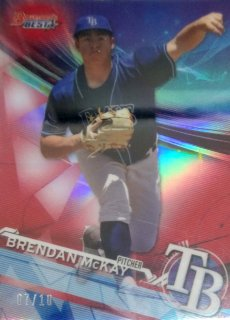 2017 BOWMAN'S BEST Top Prospects Red Refractors Brendan McKay【10枚限定】/ MINT千葉店 北田さん様