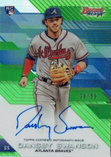 2017 TOPPS BOWMAN'S BEST Autograph Card Green Dansby Swanson【99枚限定】 / MINT立川店 Sheed様