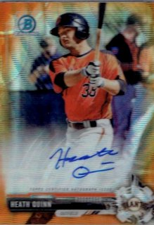 2017 TOPPS BOWMAN CHROME Chrome Prospect Autographs Orange Wave Heath Quinn【25枚限定】/ MINT立川店 TANA07様