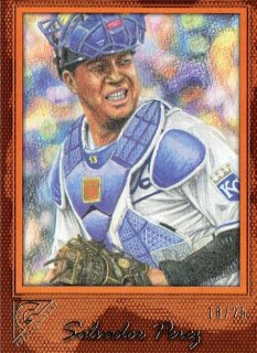 2017 TOPPS GALLERY Orange Salvador Perez 【25枚限定】 / MINT立川店 ひじき様