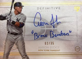 2017 Topps Definitive Collection Autograph Inscription Collection Aaron Judge【35枚限定】ミント渋谷店/MGV様