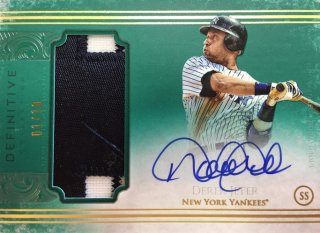 2017 Topps Definitive Collection Definitive Autograph Relic Green Derek Jeter 【5枚限定】ミント渋谷店/MGV様