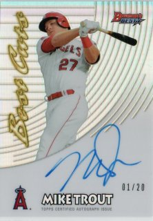 2017 Bowman's Best 1997 Best Cuts Autograph Mike Trout【20枚限定 Firest No.】MINT梅田店 Mr.ミニオン様