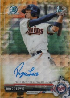 2017 Bowman Draft Draft Pick Autograph (Gold Wave) Royce Lewis【50枚限定】MINT梅田店 HN様
