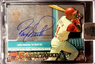 2017 TOPPS ARCHIVES SIGNATURE POST SEASON EDI Autograph Card Barry Larkin【1of1】MINT新宿店 ミスター1of1様