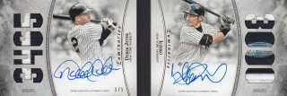 2017 Topps Luminaries Autograph Patch Dual Book Ichiro & Derek Jeter【1of1】/ MINT浦和店 陸王様