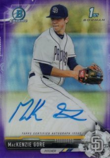 2017 BOWMAN CHROME Draft Autographs Purple Refractors MacKenzie Gore【250枚限定】/ MINT千葉店 ジョージマッケンジー様