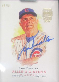 2017 TOPPS ARCHIVES SIGNATURE PS Autograph Lou Piniella【51枚限定】 / MINT千葉店 ソニック様