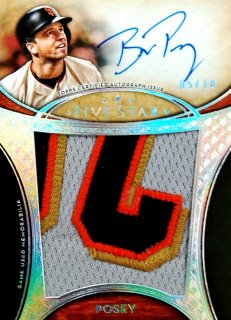 2017 Topps Five Star Autographed Jumbo Patch Silver Rainbow Buster Posey【10枚限定】ミント札幌店 キングス様