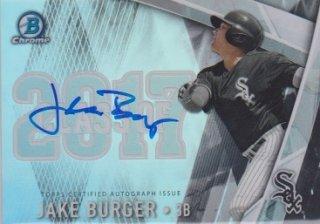 2017 Bowman Draft Jake Burger Class of 2017 Auto 【250枚限定】ポニーランド MM様
