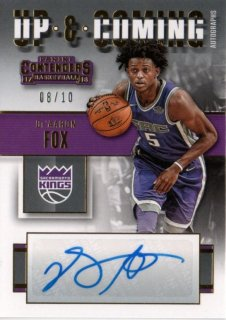 17-18 Panini Contenders Up and Coming Autograph De'Aaron Fox【10枚限定】MINT梅田店 ボウマンキング様