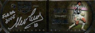 EP DEL PIERO ZONE 2001-02 Campione Booklet Autografo Silver 【8枚限定】 / MINT池袋店 エドピエロ様
