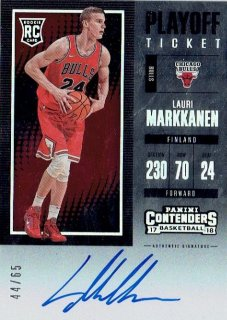 2017-18 PANINI CONTENDERS Rookie Season Ticket Playoff Lauri Markkanen【65枚限定】 / MINT立川店 ニツ様