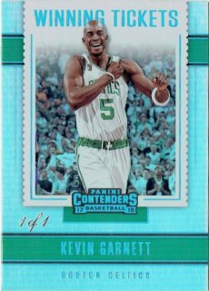 2017-18 PANINI CONTENDERS Winning Tickets Championship Edition  Kevin Garnett 【1of1】/ MINT立川店 トミタロウ様