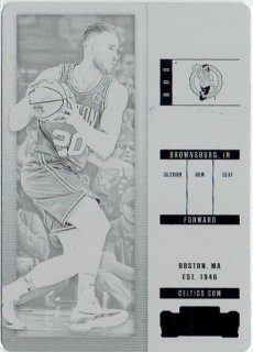 2017-18 PANINI CONTENDERS Base Printing Plates Gordon Hayward 【1 of 1】/ MINT立川店 トミタロウ様