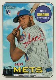 2018 TOPPS HERITAGE Real One Autographs Red Ink Amed Rosario【69枚限定】/ MINT千葉店 Tony様