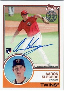 2018 TOPPS SERIES1 1983 Autograph Card Aaron Slegers / MINT立川店 B.B様