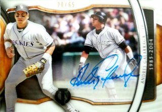 2018 Topps Tribute Generations of Excellence Autographs Andres Galarraga【65枚限定】ミント札幌店 カビー様