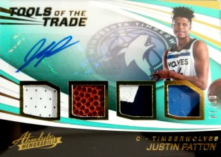 2017-18 Panini Absolute Tools of the Trade Four Swatch Sign Level3 Justin Patton【10枚限定】ミント札幌店 B・B様