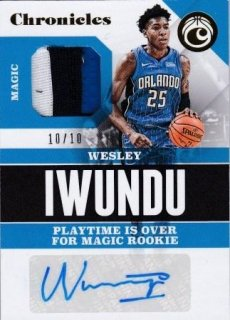 17/18 PANINI CHRONICLES SIGNATURE SWATCHES GOLD Wesley Iwundu【10枚限定】/MATCHUP Mr.2 様