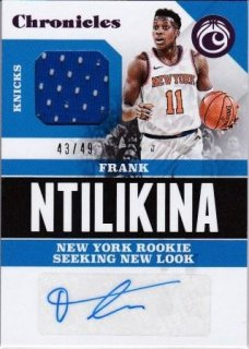 17/18 PANINI CHRONICLES SIGNATURE SWATCHES PINK Frank Ntilikina【49枚限定】/MATCHUP V 様