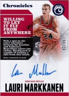17/18 PANINI CHRONICLES AUTOGRAPHS BLUE Lauri Markkanen【99枚限定】/MATCHUP GP 様
